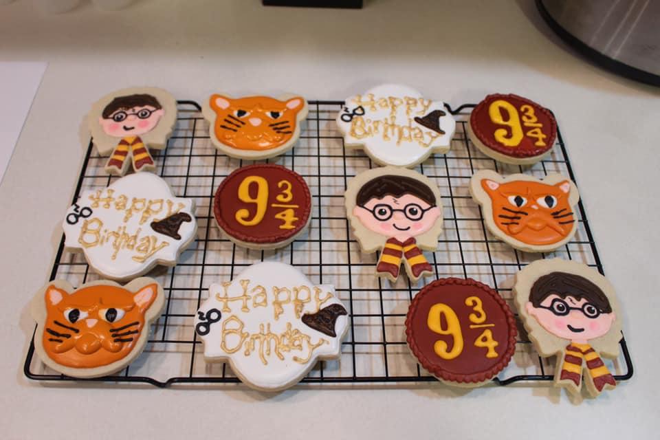 Harry Potter Birthday Cookies