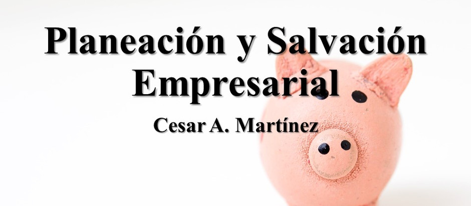 Planeación y Salvación Empresarial; Cesar A. Martínez Zapata