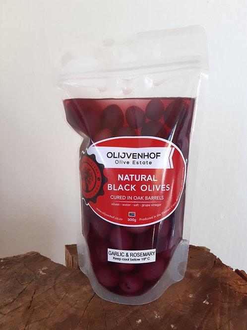 Black Table Olives Garlic & Rosemary