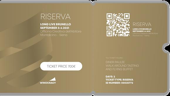 Biglietto RISERVA