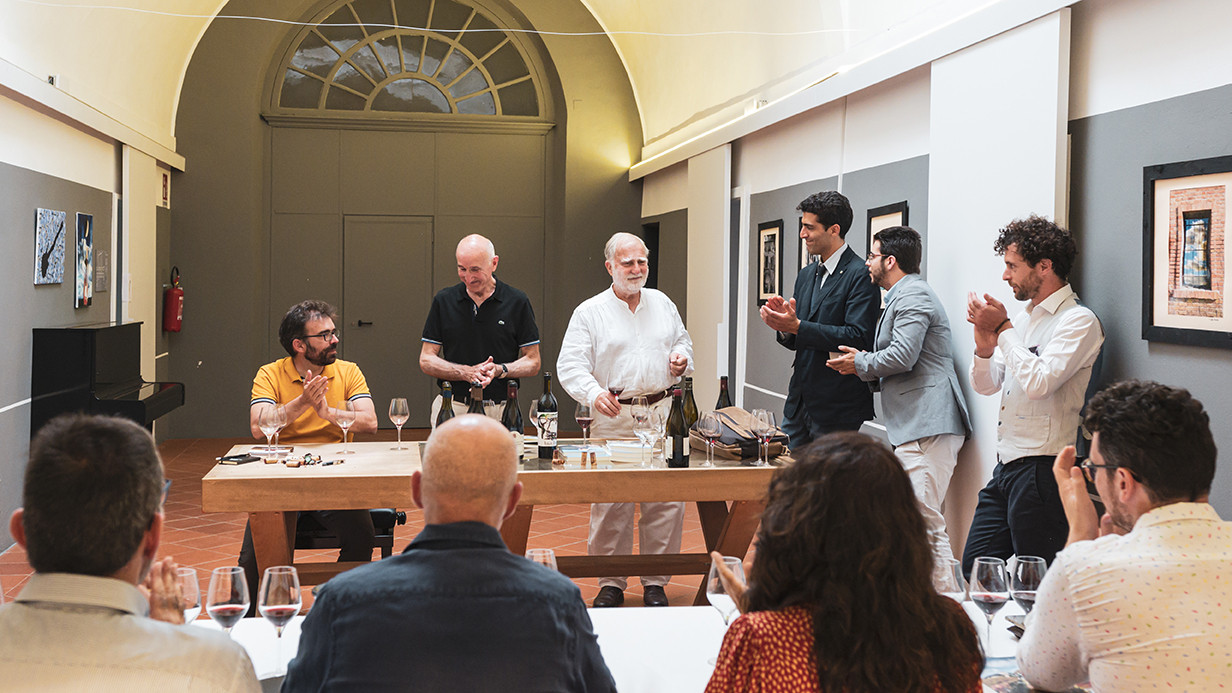 Loïc Pasquet from Liber Pater, Jacky Rigaux, Lionel Cousin from Cupano at Long Live Terroir masterclass  Photo © Elis Taflaj