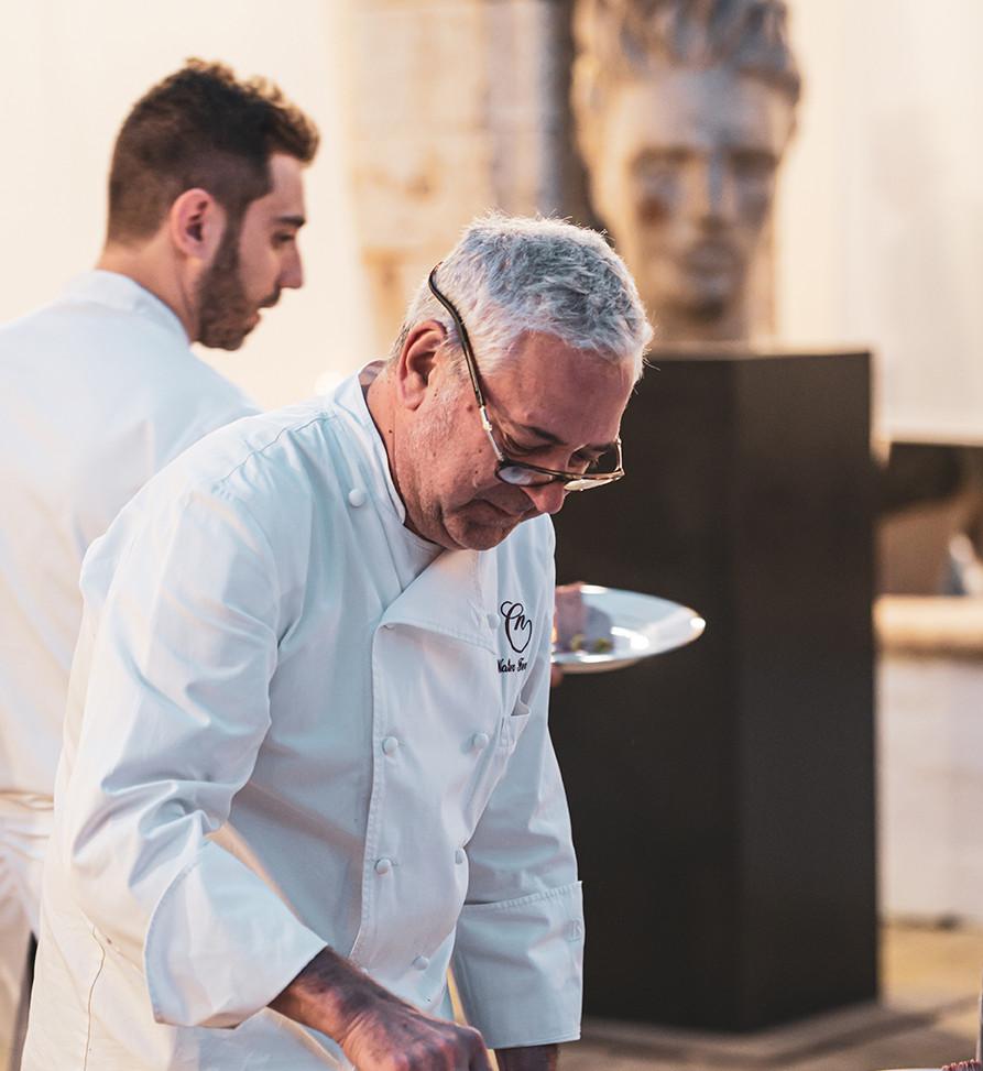 Walter Ferretto - Millefoglie of veal tongue and foie gras, Port jelly dices  Photo © Elis Taflaj