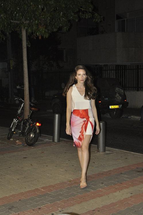 Printed V Skirt