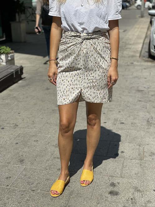 Twisted skirt - cream