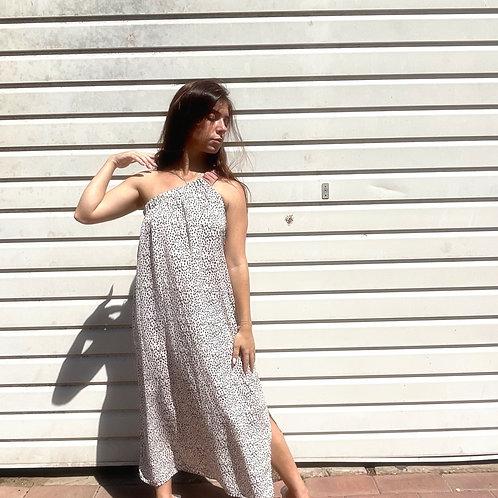 Scrunchie dress-dots