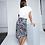 Thumbnail: Twisted skirt - Black & white