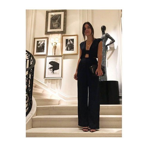 RONI 🖤 wearing our  navy jumpsuit  #PRE