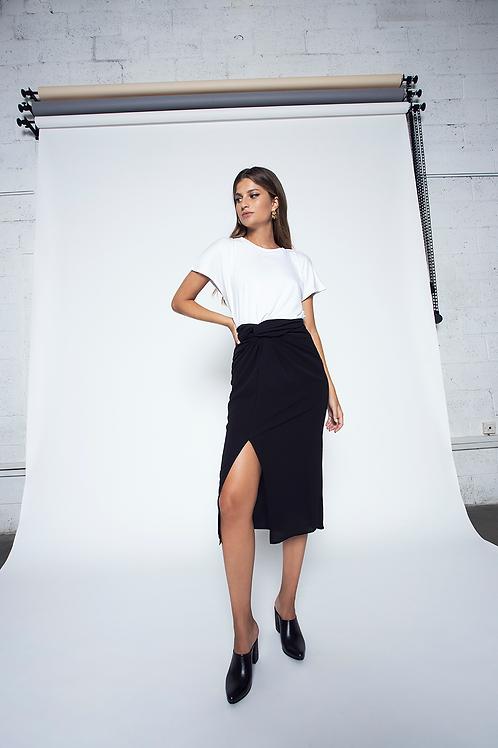 Twisted skirt - Black