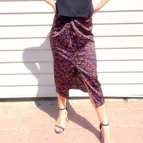 Twisted skirt- leopard print