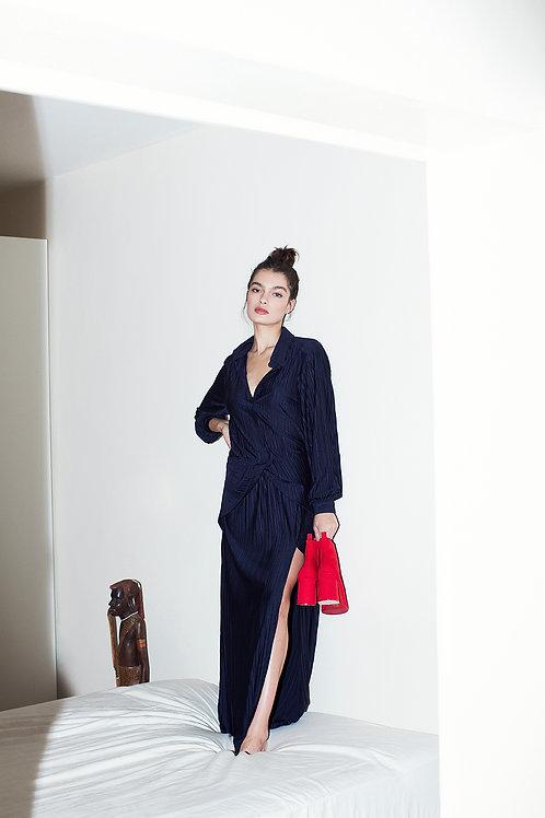 Plisse Maxi Dress