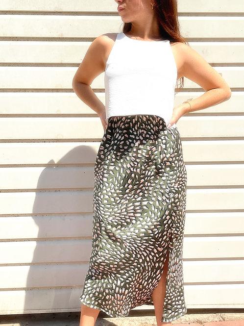 SLIT skirt- green