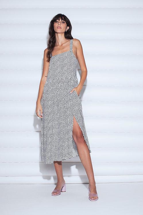 Dots printed dress