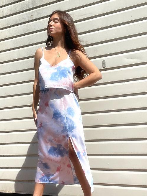 SLIT Skirt- tie dye