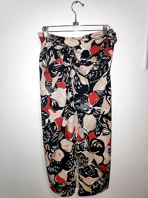 Twisted skirt - holiday flowers