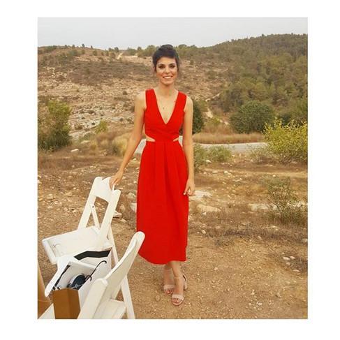 SHIR ♥️ wearing red cut out dress ♥️_#PR