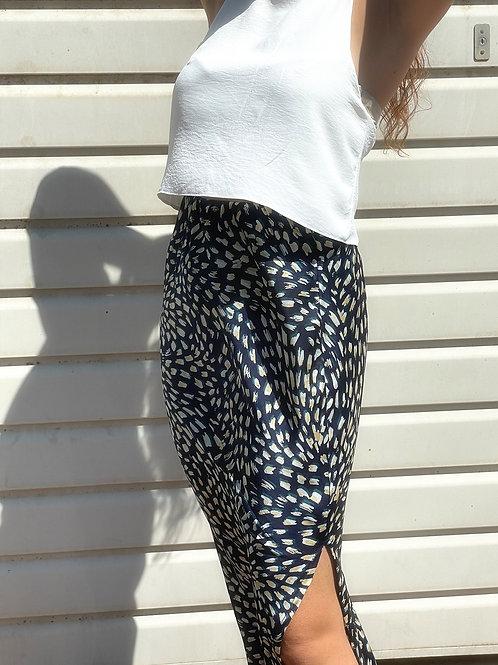 SLIT skirt- navy