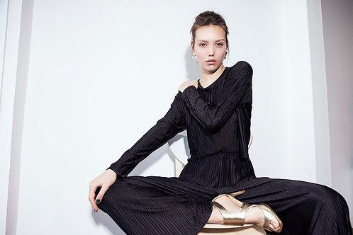 Plisse Suit- black
