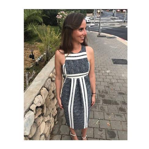 NOGA ♥️ wearing  our strips dress _#PRET