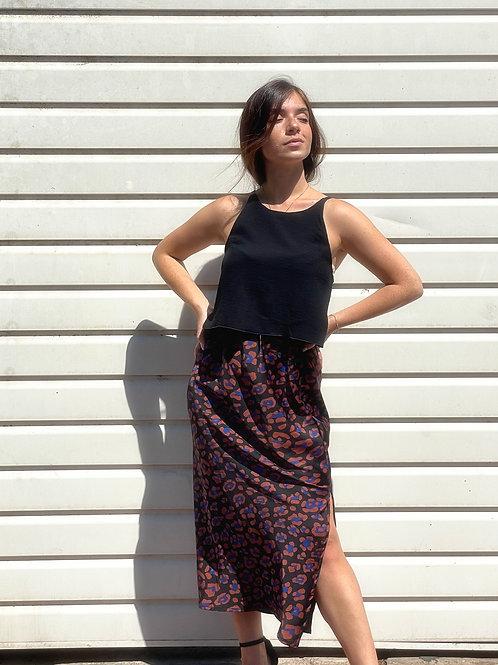SLIT Skirt- leopard print