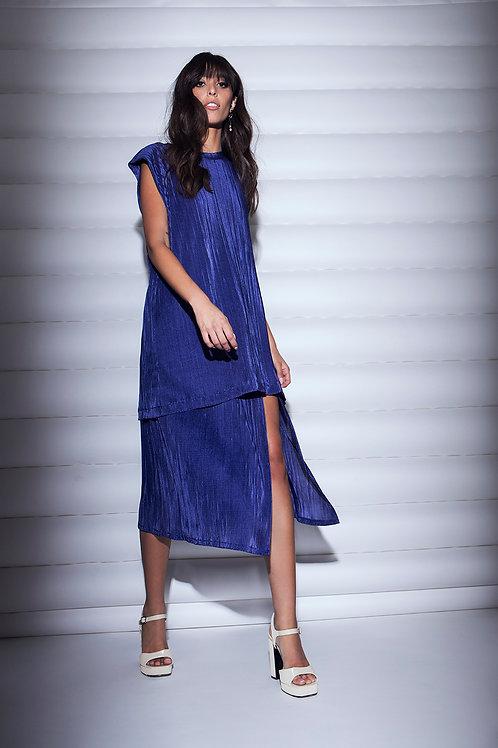 Blue plisse set