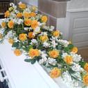 Kistepynt gule og hvide blomster