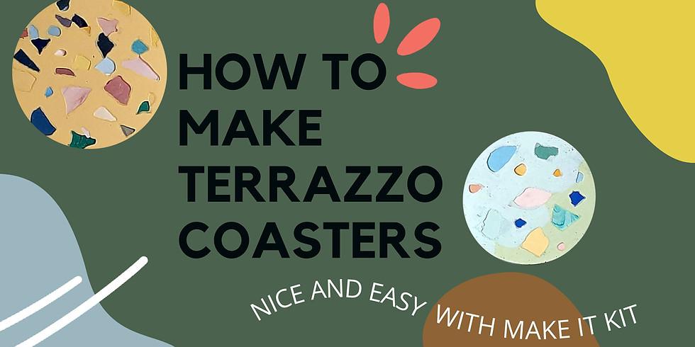 Free Terrazzo Coasters Workshop