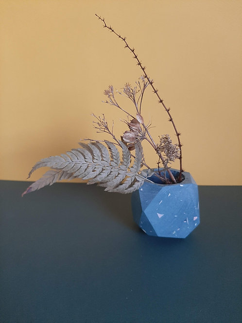 Terrazzo blue planer vase
