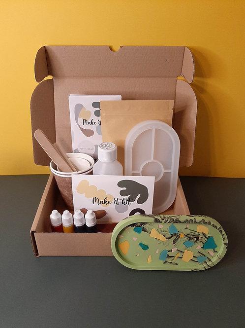 Terrazzo Tray Kit, DIY kit, craft box, workshop at home