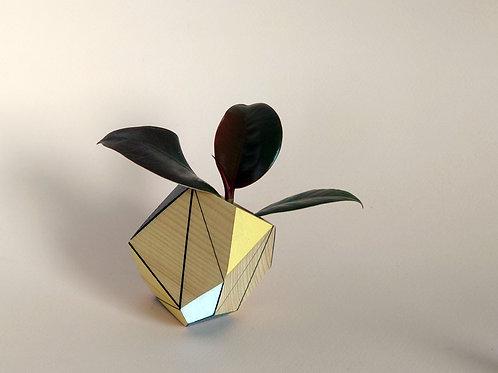 Yellow planter vase
