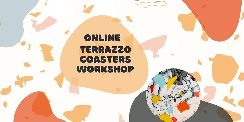 Online Terrazzo Coasters Workshop