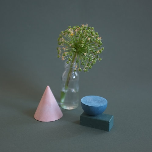 Geometric decorative objects, geo set of 3