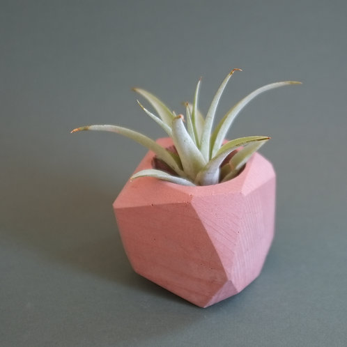 Peach pink geometric planter, minimalistic vase, available standing or hanging