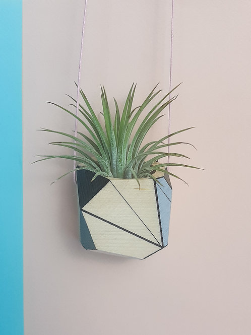 Grey and Black Hanging planter
