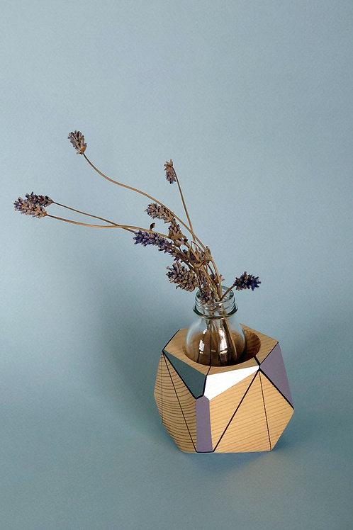Purple planter vessel