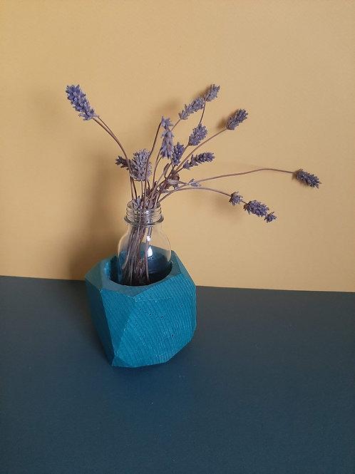 Green geometric planter vase