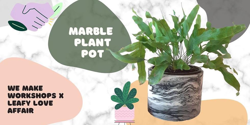 Make & Learn: Marble Plant Pot Workshop