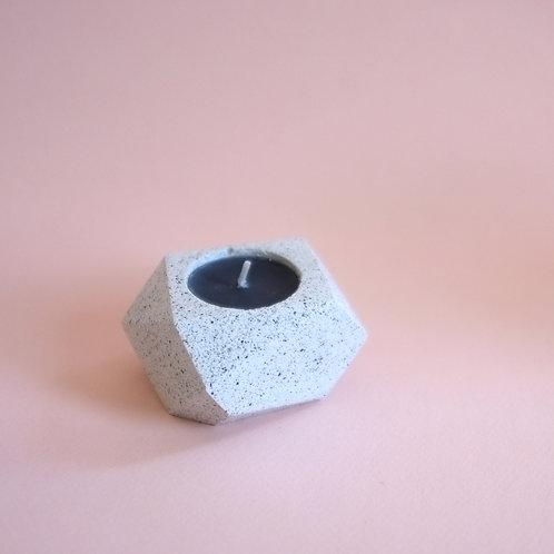 Terrazzo geometric tea light holder, minimalistic candle holder