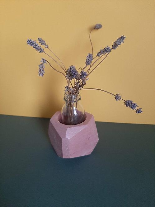 Pink geometric planter vase