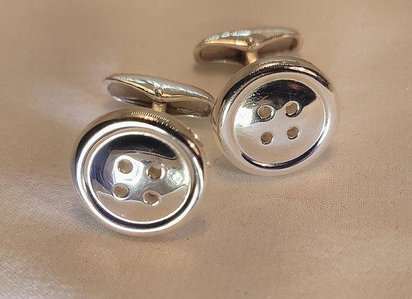 Manchettes boutons en argent massif
