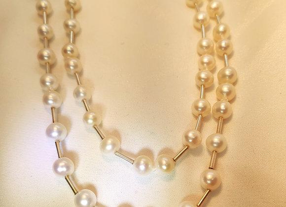 Sautoir perles et argent