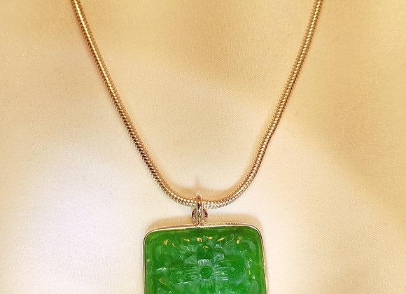 Collier jade en argent
