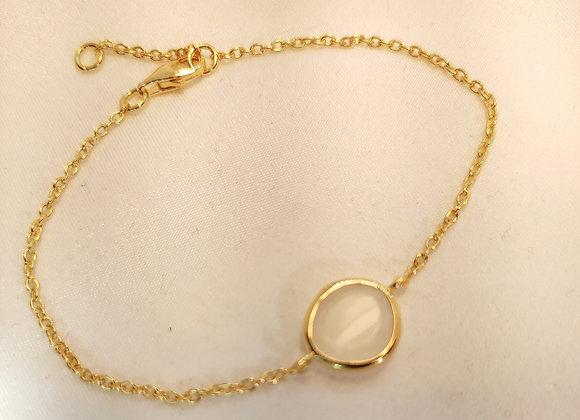 Bracelet en vermeil et pierre de lune