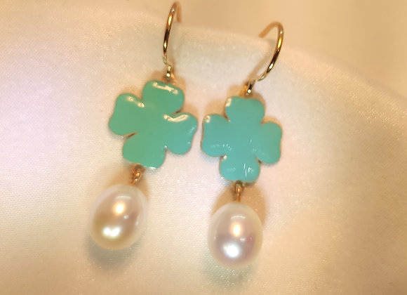 Email turquoise & perles