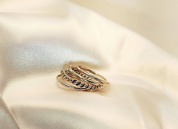 Multi anneaux en argent