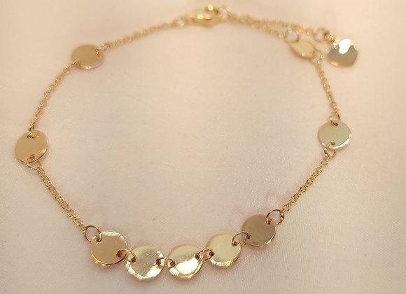 Bracelet disques or