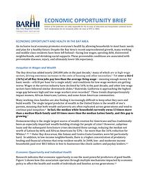 Economic Opportunity Brief
