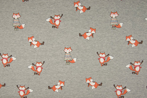 FELPA INVERNALE FOX GRIGIA MELANGE