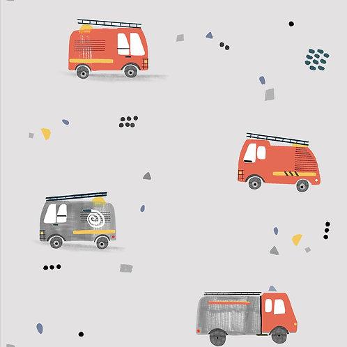 POPELIN FIREFIGHTERS CARS
