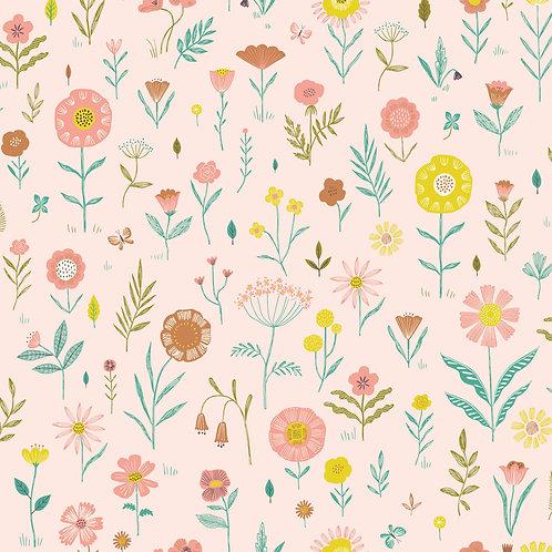 POPELIN BOTANIST FLOWERS