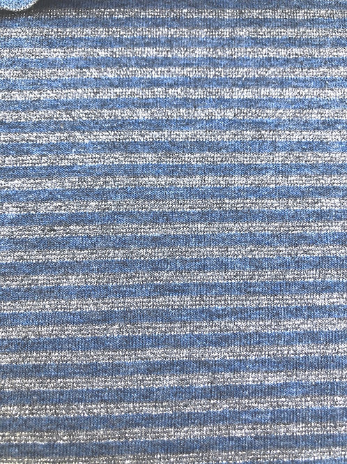 JERSEY LUREX A RIGHE INDACO